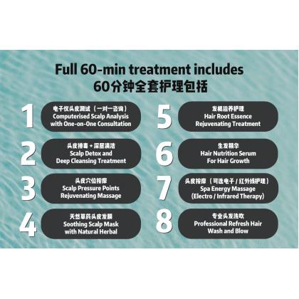 60-min Japanese Scalp SPA Treatment 60分钟日式头皮SPA护理 RM19 ONLY
